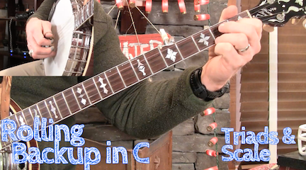 Lesson Preview - Rolling Backup in C Position - Banjo ☆ Banjo Ben